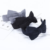 Girl Big Bow Hairband Velvet Hair Bands Bow Knotted Wide Headband Accessories