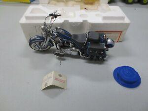 Franklin Mint 1/10 Diecast Harley Davidson Heritage Springer w/ Styrofoam Box &