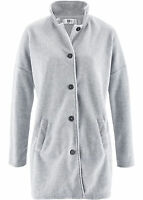 bpc - Damen Jacke Parka Mantel Fleece warm Winter Langarm silber Gr. 40 / 42 NEU