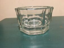 Octagonal Shaped Heavy Clear Glass Champagne Wine Bottle Coaster Bowl
