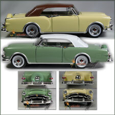 TWO WELLY 1953 Packard Caribbean Soft Top GREEN UN-BOXED FAST PRIORITY SHIPPING
