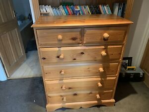 pine chest of draws used Large