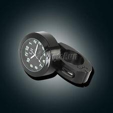 "7/8""-1"" BK Motorcycle Clock For Yamaha V-Star XVS 650 950 1100 Custom Silverado"