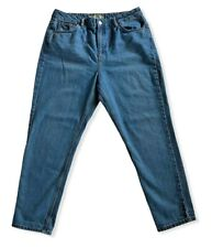 Topshop Moto MOM Blue Jeans High Waist Size 34x30 Light Wash Great Condition!