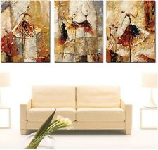 Triptych Ballet dancer paint by number kit 50x 40cm x3 print canvas wood framed