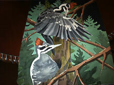 """DAN GOAD """"PILLIATED WOODPECKERS"""" PRINT OF A  WATER COLOR"""