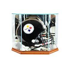 New F/S Glass Football Helmet Display Case Walnut Molding FREE SHIPPING Made USA