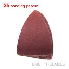 25 Pack: 240 Grit Multi-Tool Finger Size Sanding Sheets - Fein, Bosch, Dremel +