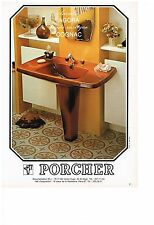 PUBLICITE ADVERTISING  1980   PORCHER  sanitaires lavabos