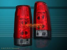 88-98 GMC CHEVY CK FULL SIZE 92-99 TAHOE SUBURBAN YUKON TAIL LIGHTS RED SMOKE