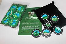 Golf Poker Chip Game 12 chips Green/ Black
