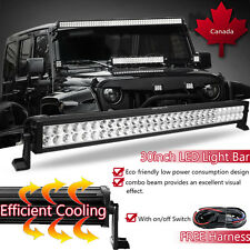"30inch 32"" 180w LED Work Light Bar Spot Flood Combo Offroad Driving SUV Jeep ATV"