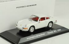 Porsche 911 901 Coupe 1965 White Red Museum 1:43 Welly Diecast