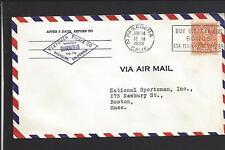 PASADENA,CALIFORNIA 1938 AIR MAIL COVER TO BOSTON ADVT FLETCHER TACKLE CO.