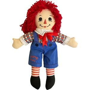 Raggedy Andy Collector Doll Rag Toy Red Yarn Hair Blue Overall 2009 Applause