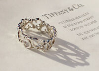 Tiffany & Co Paloma Picasso Loving Heart Sterling Silver Full Band Ring