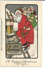 Antique Vintage Christmas Postcard Santa Toys Tuck & Sons Series 1744 Bavaria