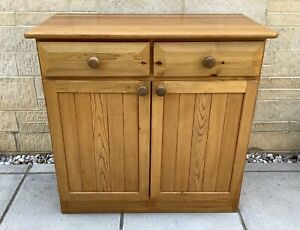 PINE WOODEN SIDEBOARD CUPBOARD WITH DRAWERS ~ SHABBY CHIC PROJECT