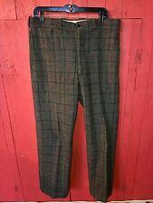 Vintage 1950's SANFORIZED Gray 100% Wool Winter Hunting Fishing Pants 36x32 USA