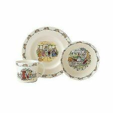 2003 Royal Doulton Bunnykins 3pc Children's Set MIB Plate Bowl Mug