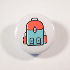 """HIKING BACKPACK ADVENTURE Badge/Button GIFT with METAL PIN (Size is 1""""/25mm)"""