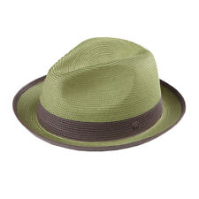 4406c2527c957 Florence Packable Foldable TwoTone Retro Summer Straw Hat Fedora Trilby