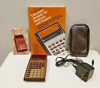 Texas Instruments TI Vintage MBA Business Calculator Original Box w/ Manual Case