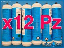 12 Bombola gas co2 600 gr E290 monouso gasatore acqua frizzante birra valv. 11x1