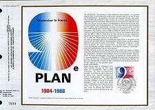 DOCUMENT CEF PREMIER JOUR  1984  TIMBRE  N° 2346 SYMBOLE DU 9° PLAN