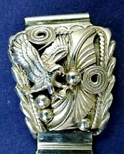 Watch stretch band with intricate eagle design Sterling Silver Cuffs