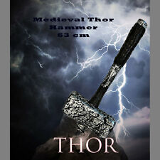 Thor Hammer God Weapon Medieval Halloween Costume Accessory Avengers Mjollnir