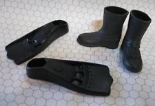 Captain Action/Aqua Man/G.I. GI Joe Black DOLL Swim Fins Flippers & Black Boots