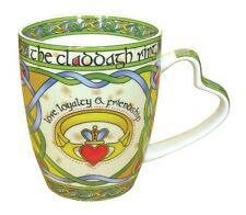 Irish Claddagh Ring Bone China Mug - An Irish Gift designed in Galway Ireland, N