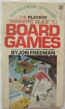 The Playboy Winners Guide To Board Games Jon Freeman Paperback 1975
