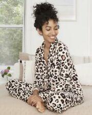 Stars Above Women's Animal Print Soft Pajama Set Oatmeal Size M NWOT B41
