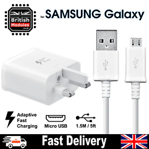 Samsung Galaxy S6 S7 Edge Plus Note 4 Adaptive Fast 2A Mains Charger + USB Cable