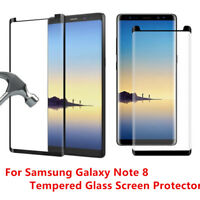 Case Friendly For Samsung Galaxy Note 8 Tempered Glass Screen Protector Black