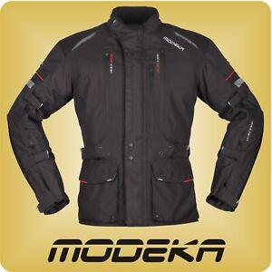 Modeka Motorradjacke Striker II Jacke schwarz wasserdicht Thermofutter Belüftung