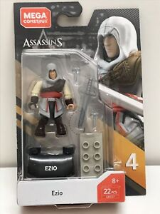 BRAND NEW 2019 Mega Construx Heroes Series 4 EZIO Assassin's Creed GBG37 IN HAND