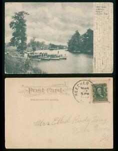 Mayfairstamps Texas 1909 Houston to Villa Grove IL Postcard wwp72831