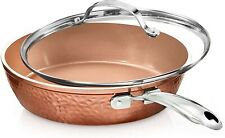 Gotham premium steel forged copper collection - 10-inch non-stick pan with lid