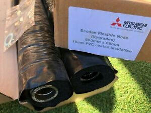Mitsubishi Electric Ecodan Insulated Flexible Connection Pipes 28mm X 500mm x 2