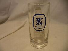 Vintage Glass Lowenbrau Munich Beer Mugs Handled Glasses Barware