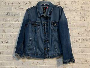 Torrid Denim Jacket Women's Plus Size 2 18 20 Cute Excellent Condition