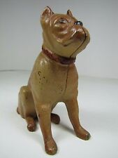 Old Cast Iron Figural Boxer Dog Bank still piggy bank old original paint
