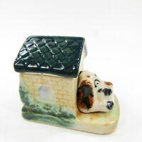 Vintage Salt Pepper Shakers Puppy Dog in Doghouse Hound 3 piece set Japan