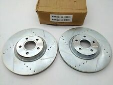 POWERSTOP FRONT DISC BRAKE ROTOR SET OF 2 FOR FORD FOCUS ST 2013 2014 15 16 2017