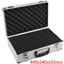 LARGE HARD ALUMINIUM FLIGHT CARRY CASE FOAM TOOL LOCKABLE KEY CAMERA STORAGE BOX