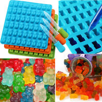 53 Grids Gummy Bears Cavity Silicone Chocolate Jelly Ice Mold Tray Candy Moulds