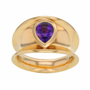 Chopard 18K Rose Gold Amethyst Ladies Cocktail Ring 1.06 Cttw Size 7